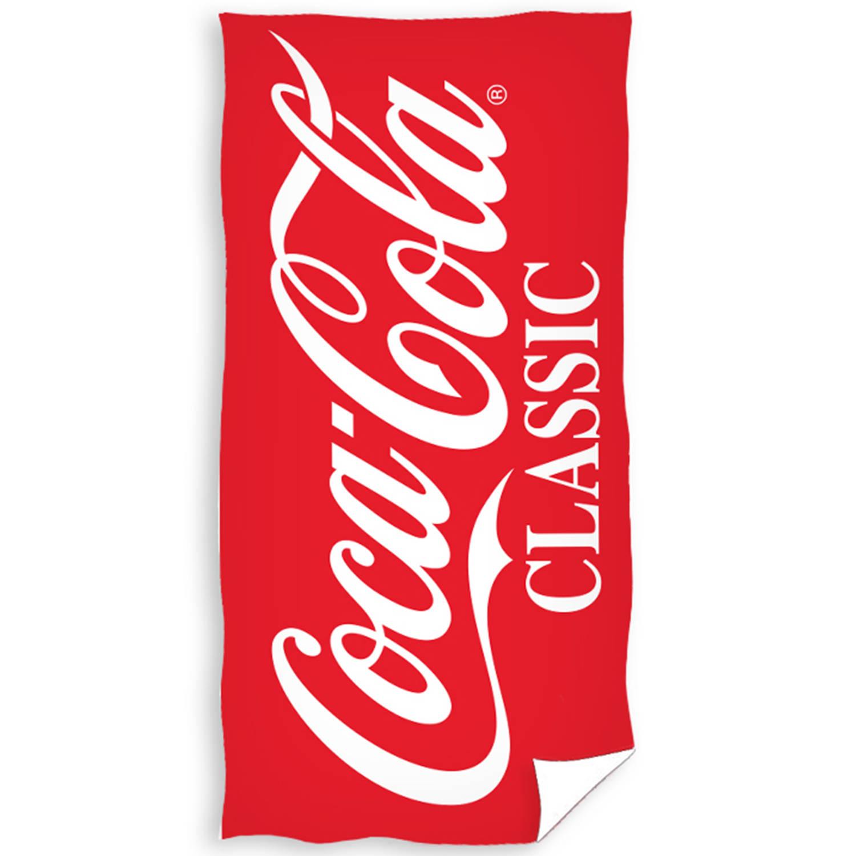 Korting Coca Cola Strandlaken Logo 70 X 140 Cm Katoen