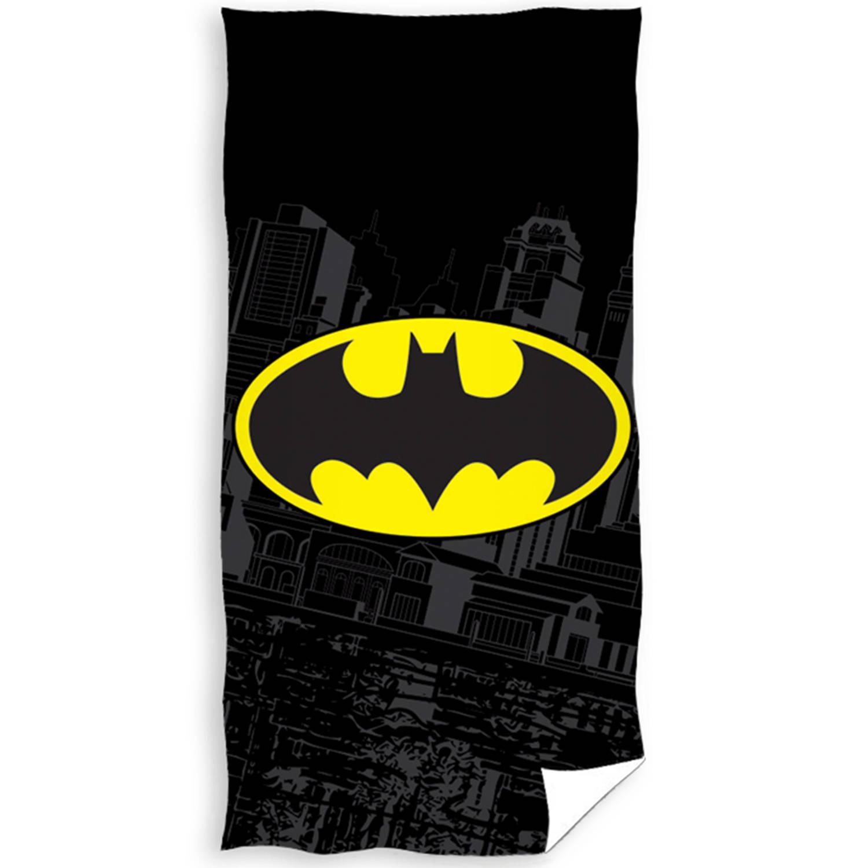 Korting Batman Strandlaken Bat signal Logo 70 X 140 Cm Katoen