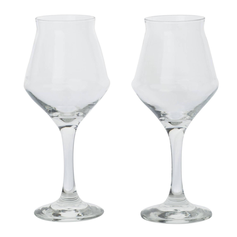 Korting Set Van 2x Cocktailglazen wijnglazen Transparant 400 Ml Wijnglazen