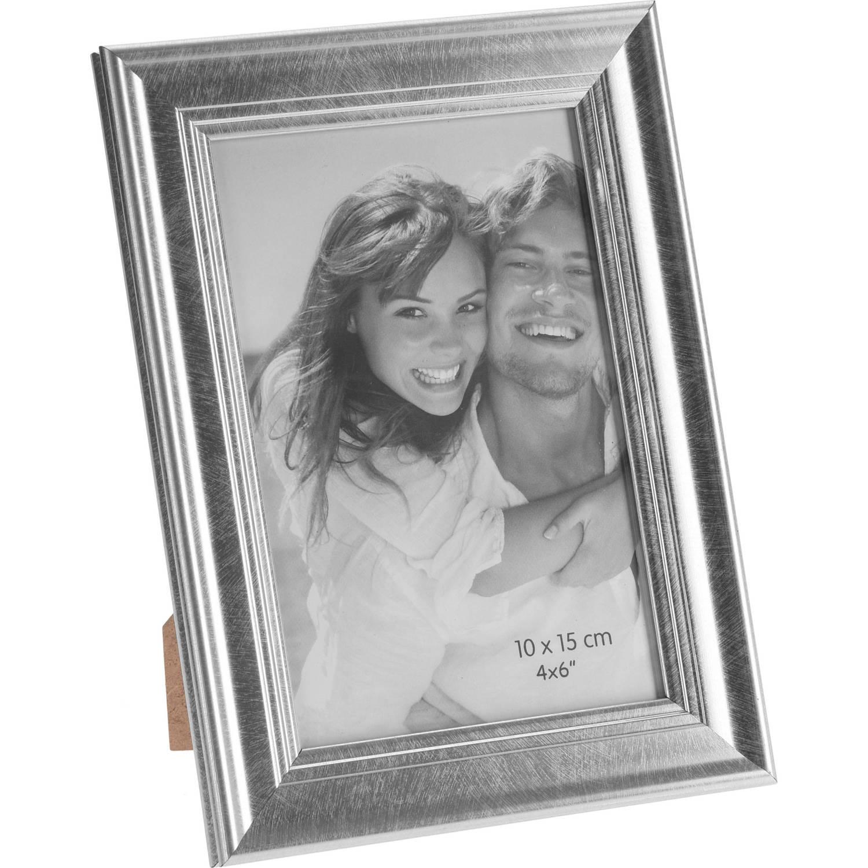 Korting Zilveren Glanzende Fotolijsten fotoframes 14 X 19 Cm Fotolijstjes Voor Een 10 X 15 Cm Foto