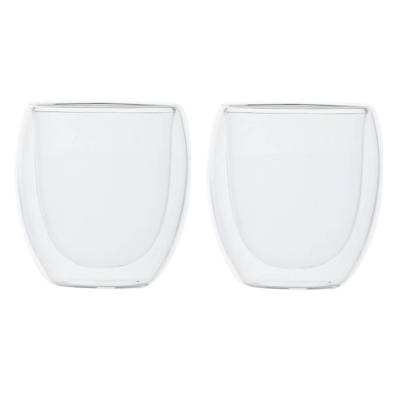 Korting Set Van 2x Dubbelwandige Koffieglazen cappuccino Glazen 300 Ml Dubbelwandige Glazen Voor Koffie En Thee