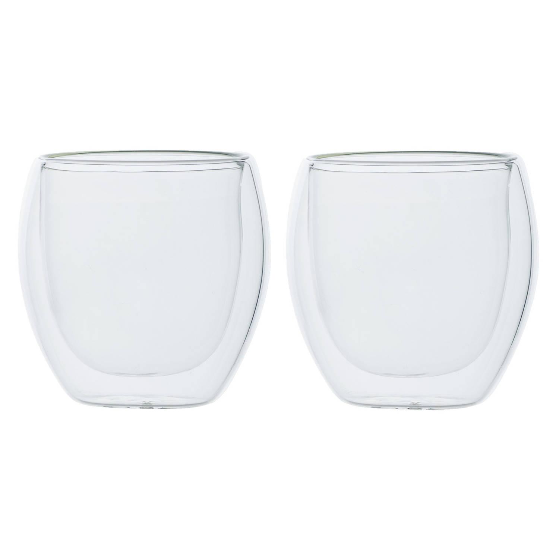 Korting Set Van 2x Dubbelwandige Koffieglazen cappuccino Glazen 220 Ml Dubbelwandige Glazen Voor Koffie En Thee