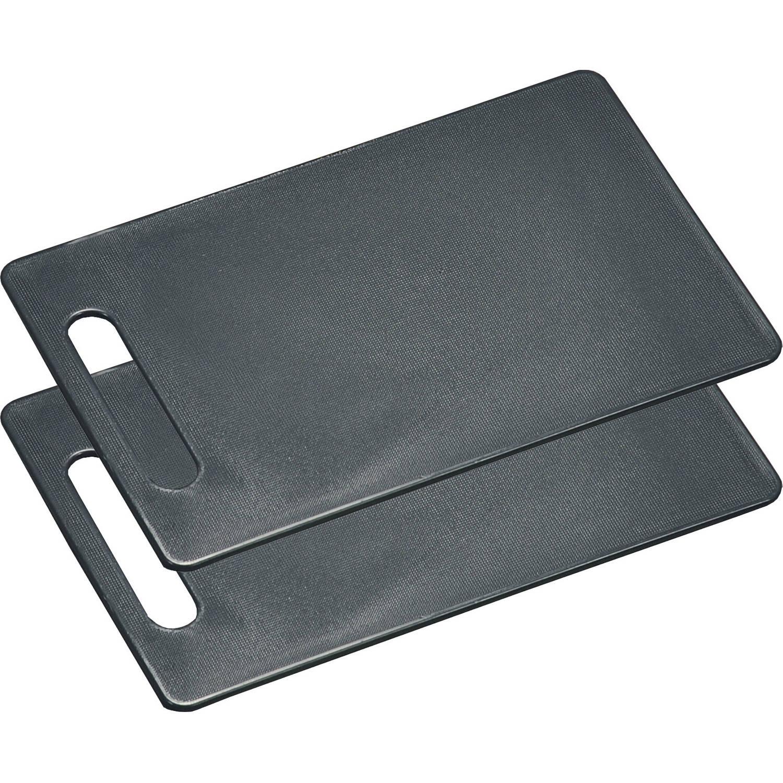 Korting 2x Kunststof Snijplanken Grijs 15 X 24 Cm Keukenbenodigdheden Grijze Plastic Snijplank