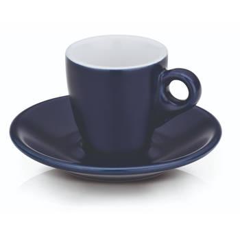 Korting Espresso Kop En Schotel Set, Donkerblauw Kela Mattia