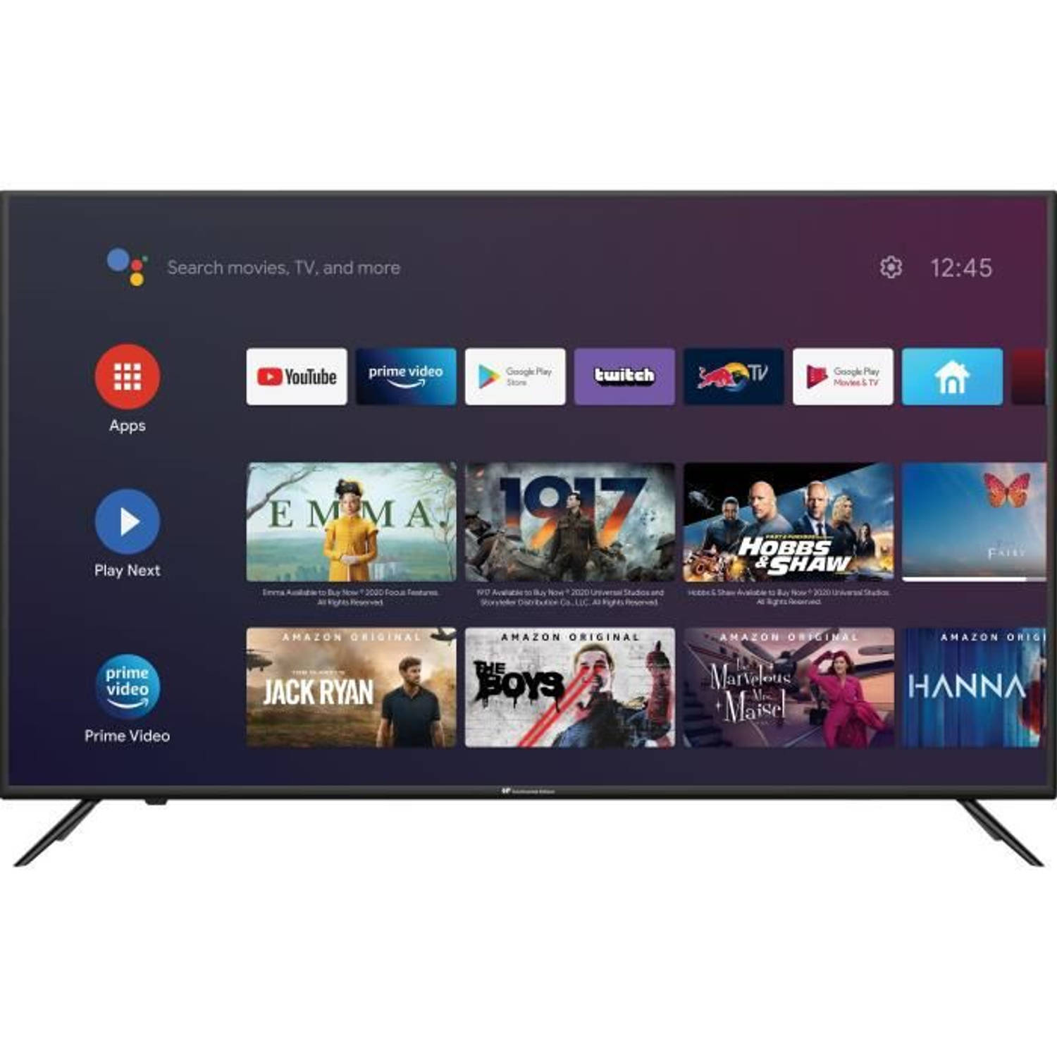 Korting Continental Edison Android Tv Qled 43 '' (109 Cm) 4k Ultra Hd Android Wi Fi Bluetooth Netflix Hdr Chromecast