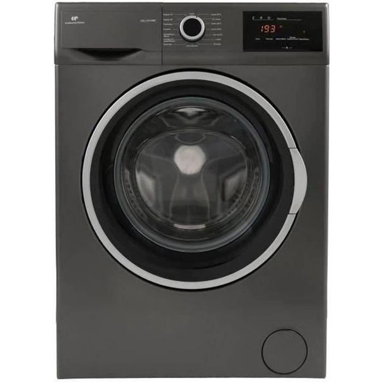 Korting Continental Edison Frontwasmachine 10 Kg 1400 Tpm L 59,7 Cm X H 84,5 Cm zwart Roestvrij Staal
