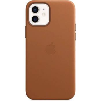 Korting Apple Iphone 12 12 Pro Lederen Tas Met Magsafe Zadelbruin