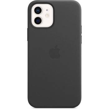 Korting Apple Iphone 12 12 Pro Lederen Tas Met Magsafe Zwart