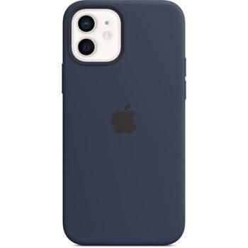 Korting Apple Iphone 12 12 Pro Siliconen Hoesje Met Magsafe Marineblauw
