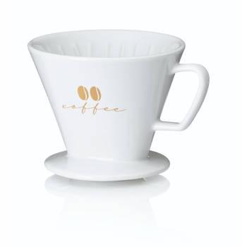 Korting Koffiefilterhouder S, Porselein, Wit Kela Excelsa