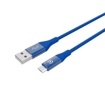 Korting Micro usb Kabel, 1 Meter, Blauw Celly Feeling