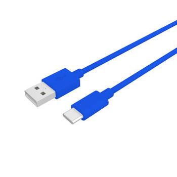 Korting Usb kabel Type C, 1 Meter, Blauw Pvc Celly Procompact