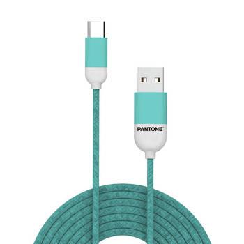 Korting Usb kabel Type c, 1,5 Meter, Groen Rubber Celly Pantone