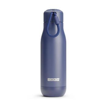 Korting Thermosfles Rvs, 500 Ml, Donkerblauw Zoku Hydration