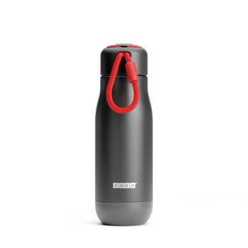 Korting Thermosfles Rvs, 350 Ml, Zwart Zoku Hydration