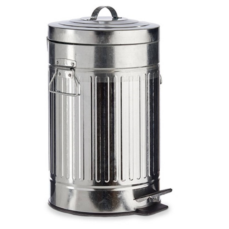 Vuilnisbak/pedaalemmer Zilver 12 Liter 45 Cm Metaal - Prullenbakken