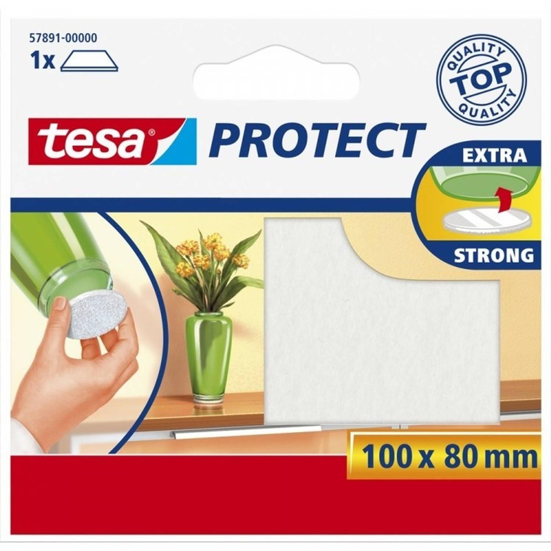 Korting Tesa Antikras Meubelvilt Wit Zelfklevend 8 X 10 Cm Viltglijders Meubelbeschermers Wit