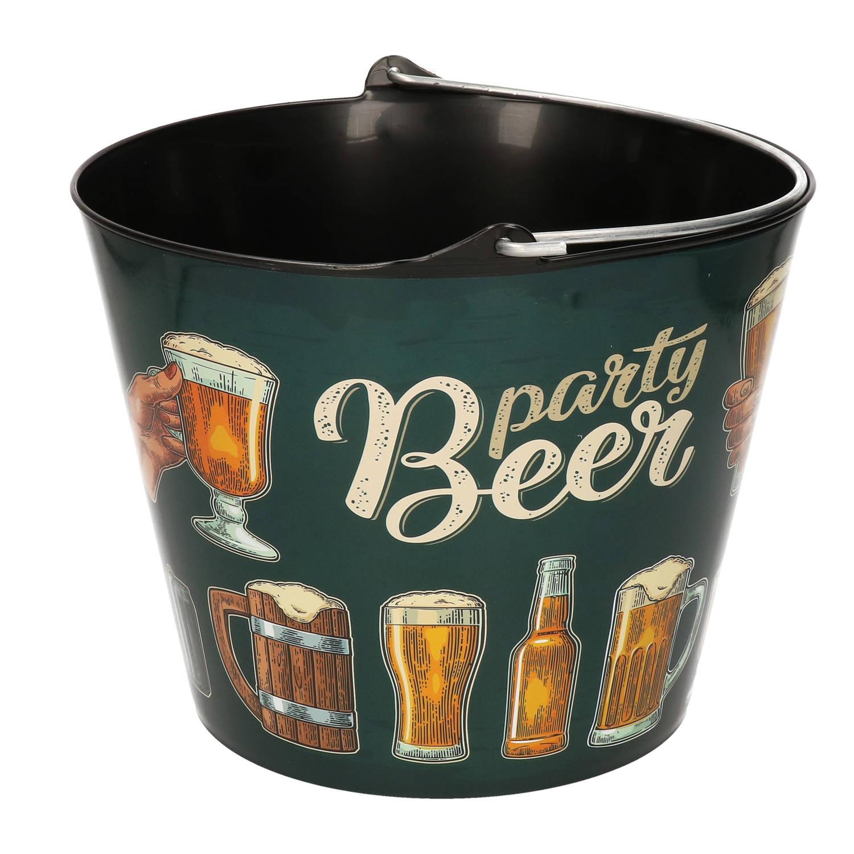 Korting Groene Bier Koel Emmer 5,4 Liter Donkergroene Ijsemmers koelemmers Bierfles Emmer Drank Emmer Tuinfeest Geven
