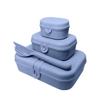 Korting Lunchbox En Bestekset, Organic Blauw Koziol Pascal Ready