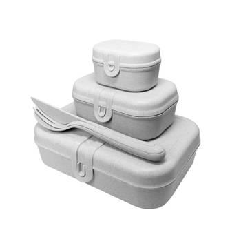 Korting Lunchbox En Bestekset, Organic Grijs Koziol Pascal Ready