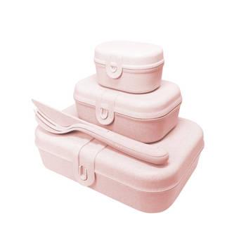 Korting Lunchbox En Bestekset, Organic Roze Koziol Pascal Ready