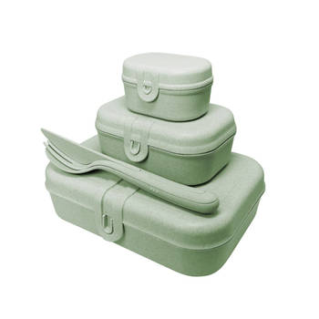 Korting Lunchbox En Bestekset, Organic Groen Koziol Pascal Ready