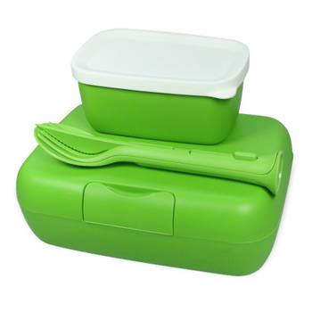 Korting Lunchbox En Bestekset, Healthy Groen Koziol Candy Ready