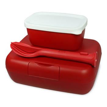 Korting Lunchbox En Bestekset, Stijl Rood Koziol Candy Ready