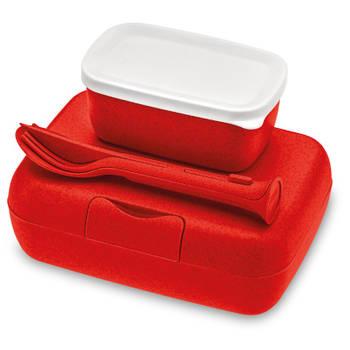 Korting Lunchbox En Bestekset, Organic Rood Koziol Candy Ready