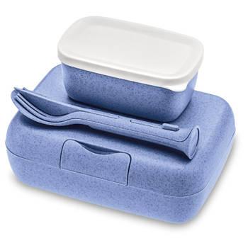 Korting Lunchbox En Bestekset, Organic Blauw Koziol Candy Ready