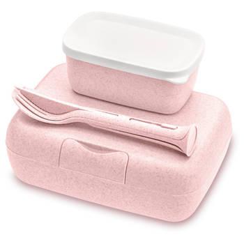 Korting Lunchbox En Bestekset, Organic Roze Koziol Candy Ready