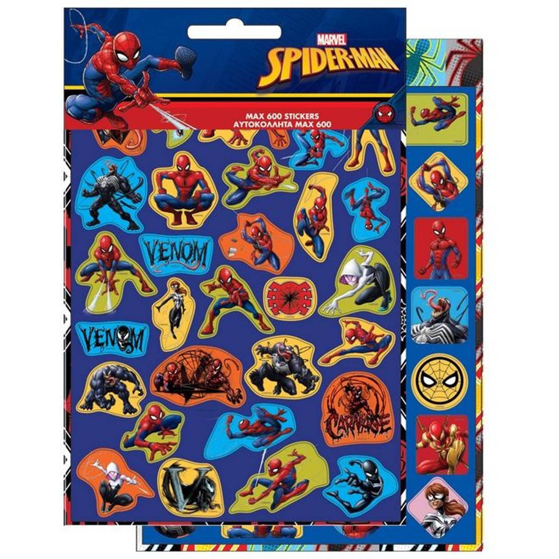 Korting Marvel Stickerboekje Spider man Jongens Blauw Papier 600 Stuks