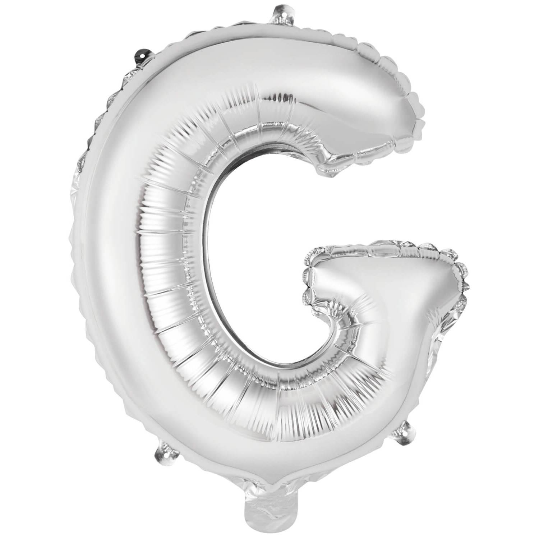 Korting Amscan Letterballon G Folie 34 Cm Zilver