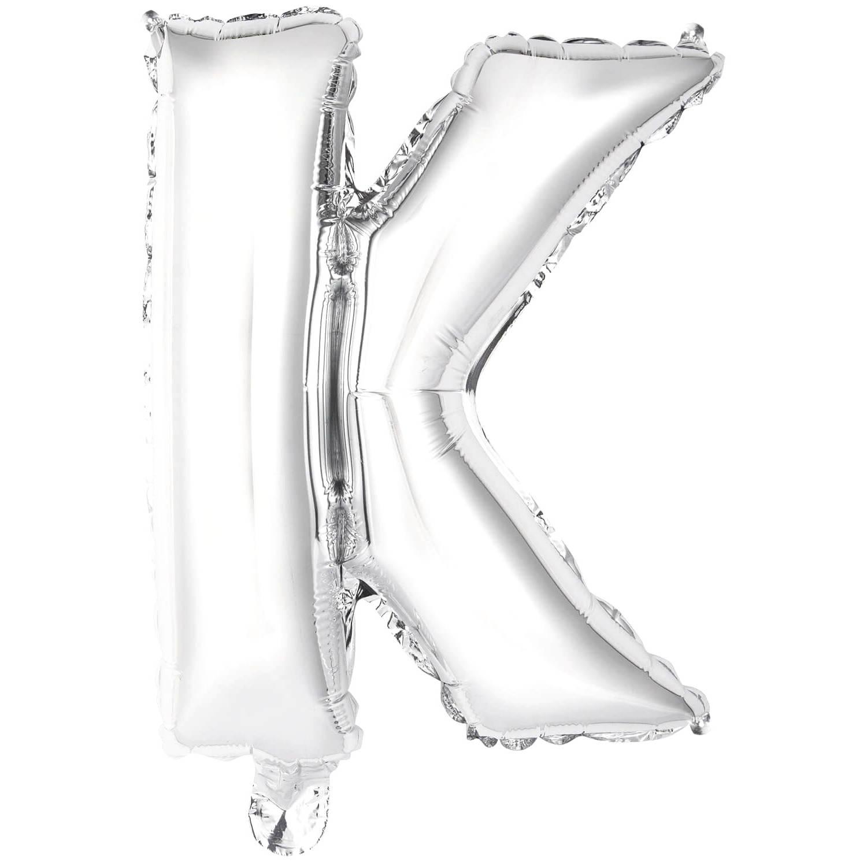 Korting Amscan Letterballon K Folie 34 Cm Zilver
