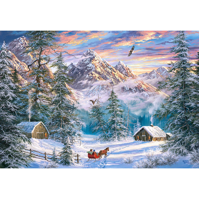 Korting Castorland Legpuzzel Mountain Christmas 1000 Stukjes