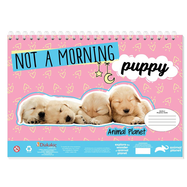 Korting Animal Planet Kleurboek Met Stickers Puppy 33 Cm Papier Roze