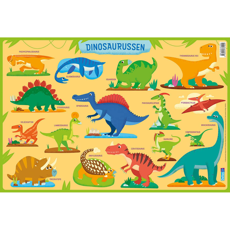 Korting Deltas Onderlegger Dinosaurussen Junior 47,5 X 32 Cm Pvc