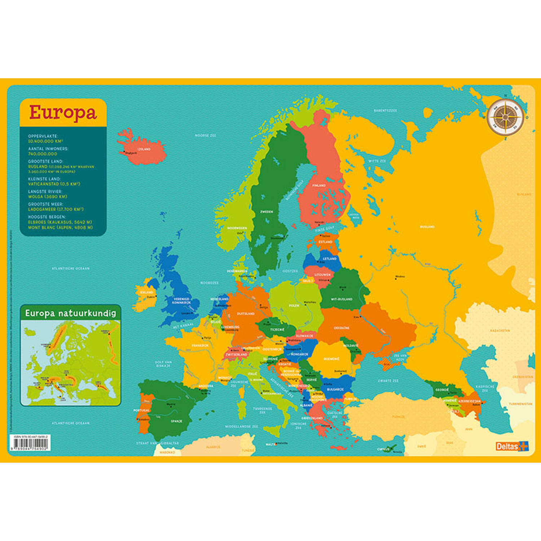 Korting Deltas Onderlegger Kaart Europa Junior 43 X 30,5 Cm Pvc