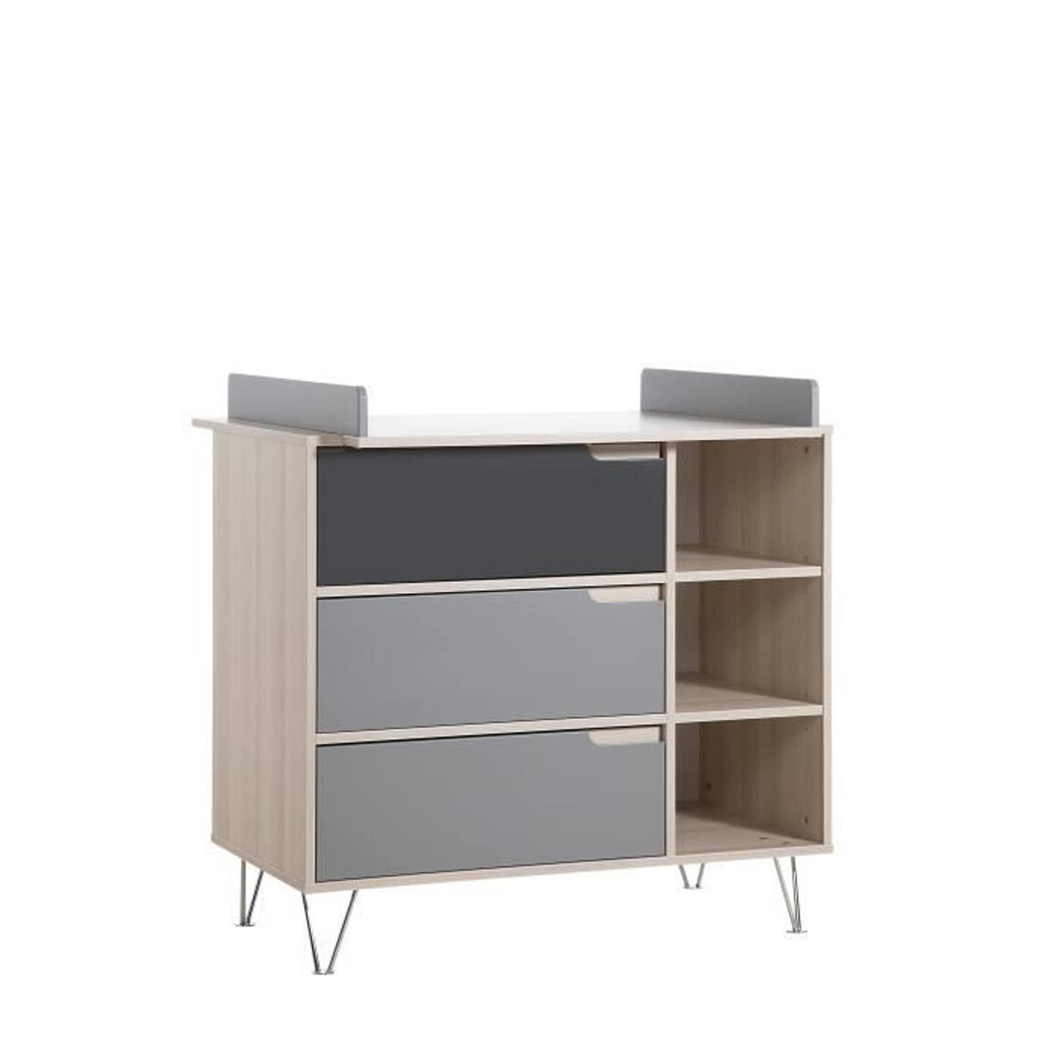Korting Geuther Marit Commode Acacia Grijs Commode Inclusief Commode
