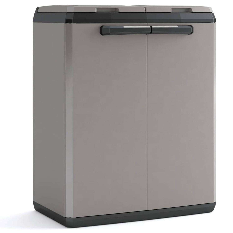 Korting Keter Recyclingkast Split Basic 85 Cm Grijs En Zwart