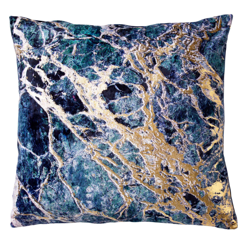 Korting Dutch Decor Marble Kussenhoes Velvet 45x45x Cm Insignia Blue
