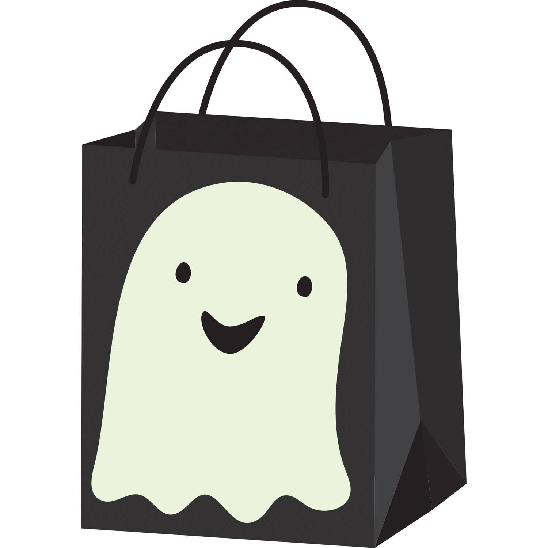 Korting Amscan Snoepzakje Ghost Halloween 16 X 22 Cm Papier Zwart wit