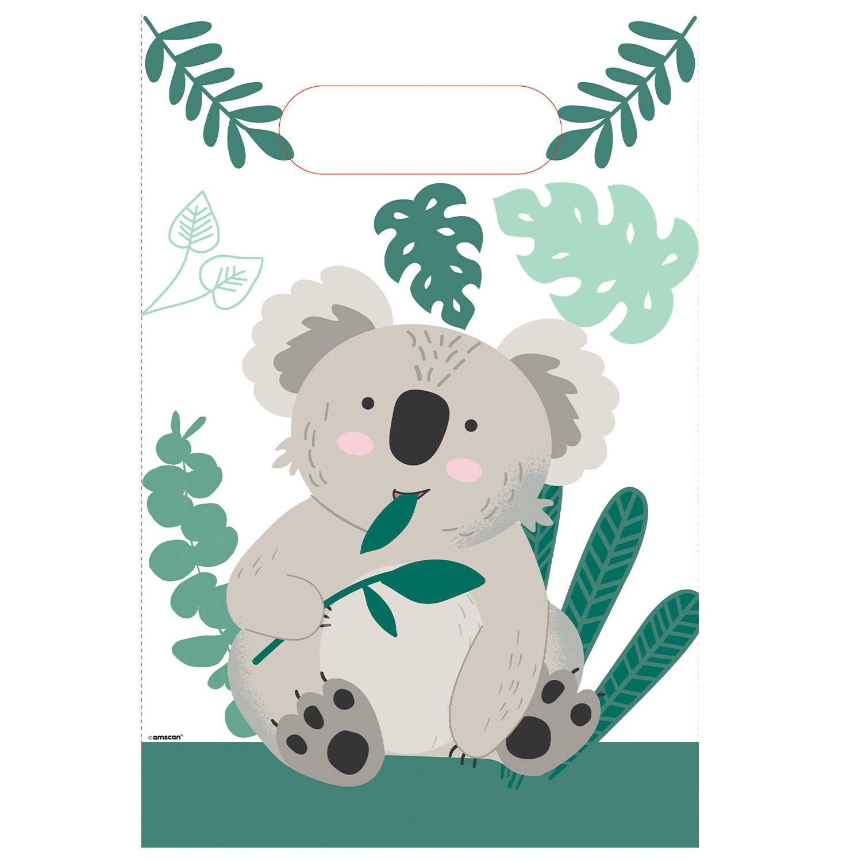Korting Amscan Feestzakjes Koala Junior Papier Groen wit 6 Stuks