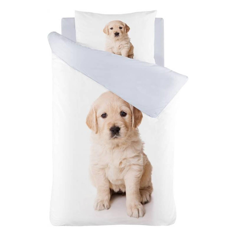 Korting Iseng Puppy Dekbedovertrek Katoen Peuter (120x150 Cm plus 1 Sloop) White
