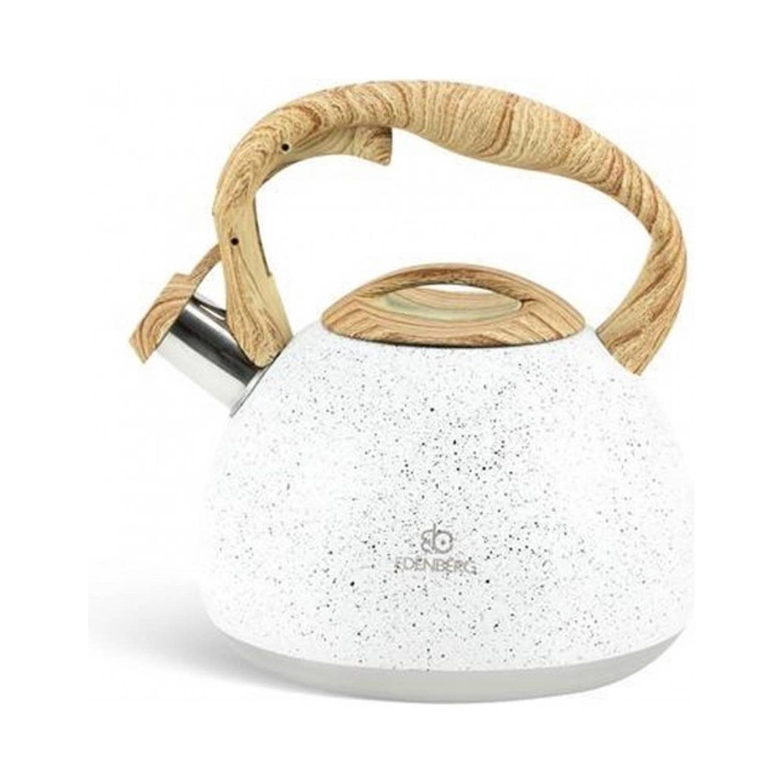Korting Edënbërg White Line Luxe Fluitketel 3.0 Liter Rvs