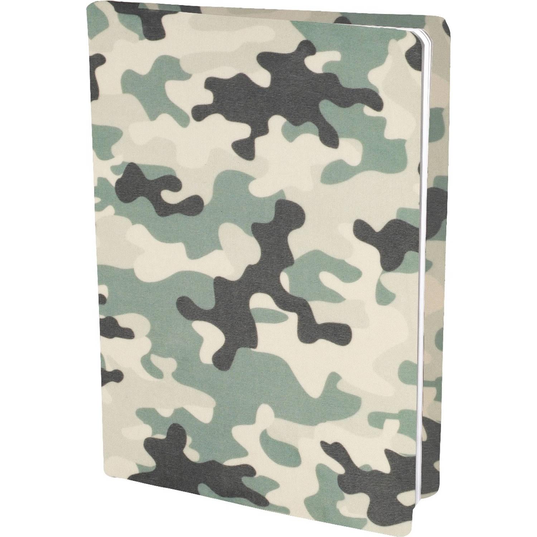 Korting Camouflage Rekbare Boekenkaften A4 6 Stuks