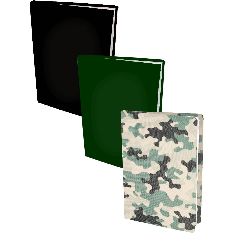 Korting Assortiment Rekbare Boekenkaften A4 2 X Camouflage 2 X Zwart 2 X Groen