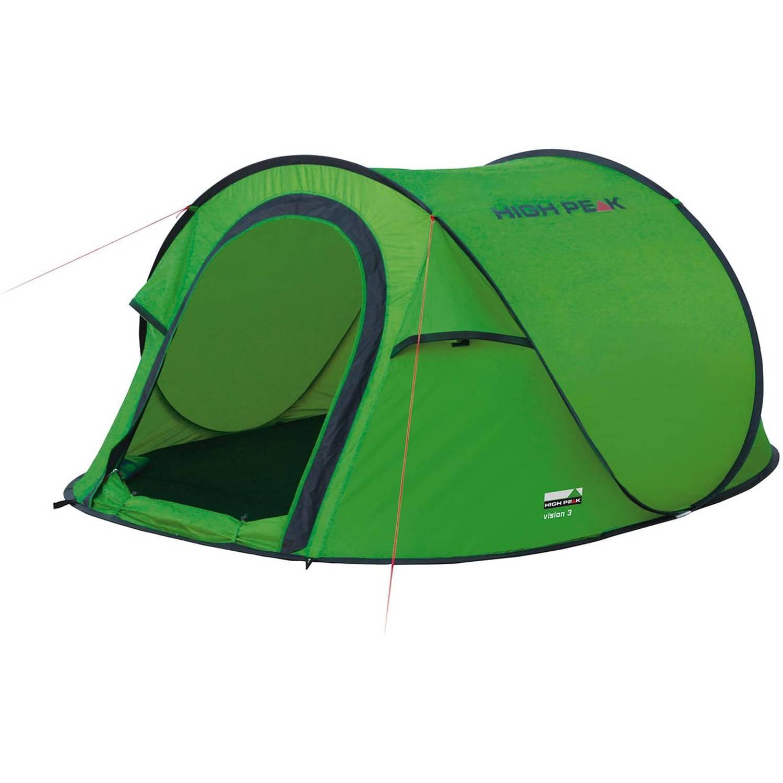 Korting High Peak Pop up Tent Vision Iii 180 X 235 Cm Polyester Groen