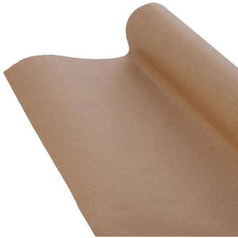 Korting Bruine Kraft Pakpapier Cadeaupapier Inpakpapier 10 Meter X 100 Cm 2 Rollen
