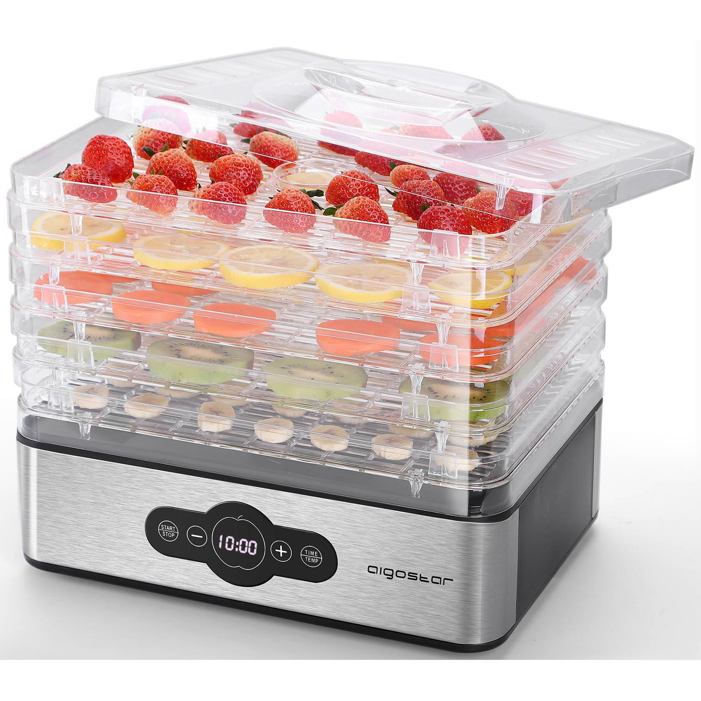 Korting Aigostar Crispy 30ini Voedseldroger Elektrische Droogautomaat 5 Lagen